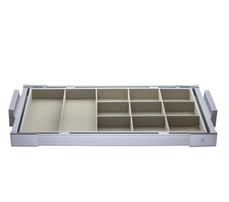 Jewellery/Essentials Organizer Pull Out Rack (Aluminium)